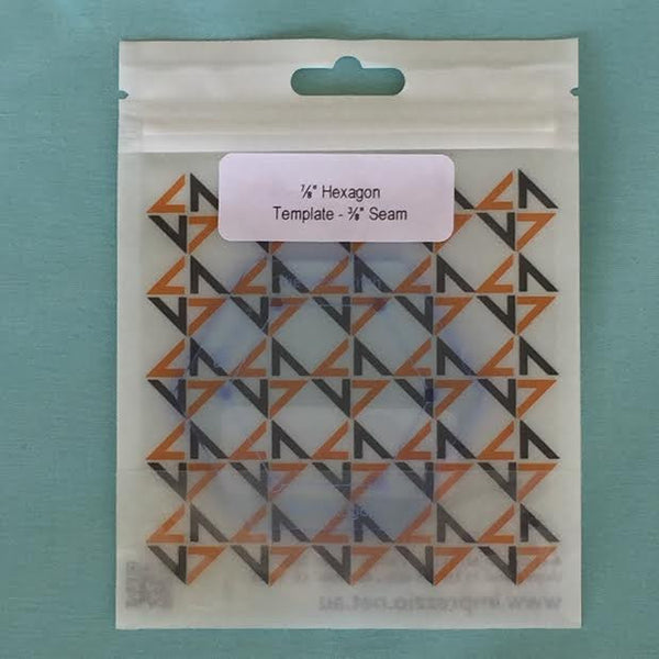 "7/8'""hexagon template - 3/8"" seam"