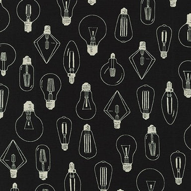 Sevenberry Canvas- Cotton Flax Lightbulbs on black