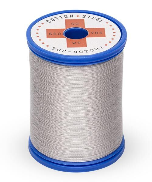 Cotton and Steel Thread by Sulky - Silver Grey 1218