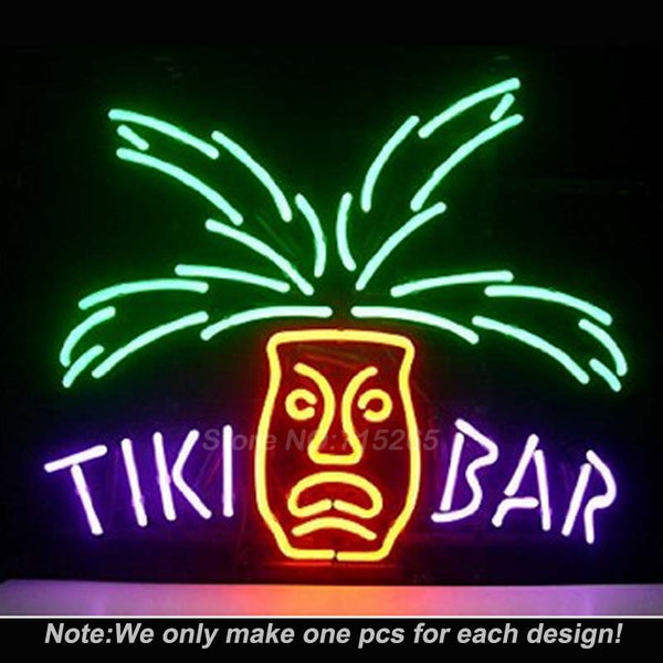 Tiki Bar Neon Sign Handcrafted 17x14