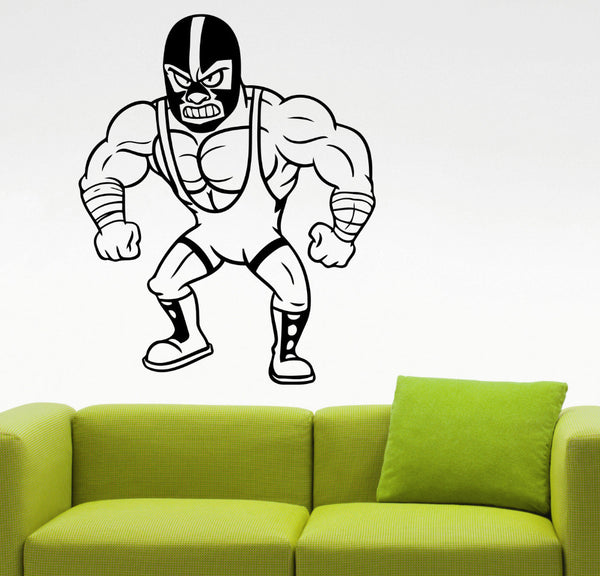 Mexican Wrestler Wall Decal