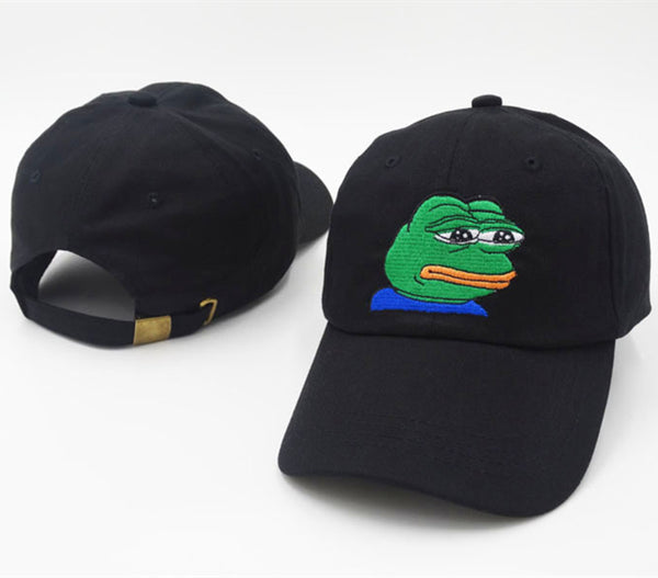 Sad Pepe the Frog Adjustable Stapback Cap