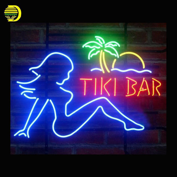 Tiki Bar Babe Neon Sign 24x20