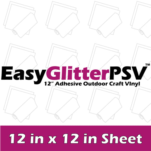 EasyPSV Permanent Glitter Vinyl - 12 in x 12 in Sheet