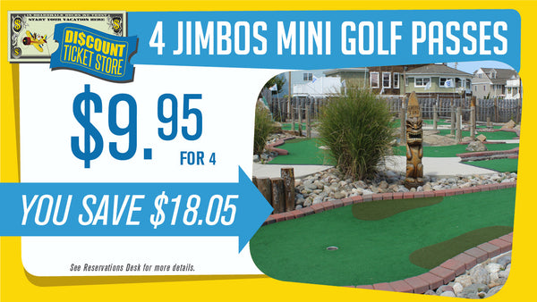 Jimbo's 4 Mini Golf Passes
