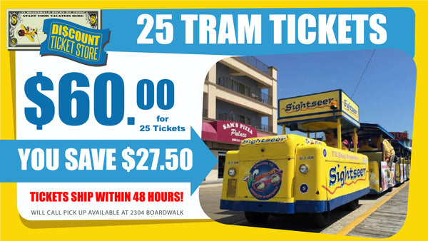 Book of 25 Tram Car Tickets