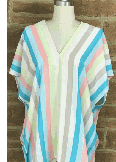 Striped V Neck Tunic