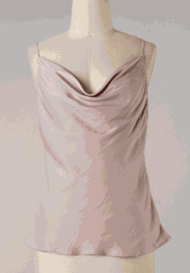 Taupe Draped Neck Cami