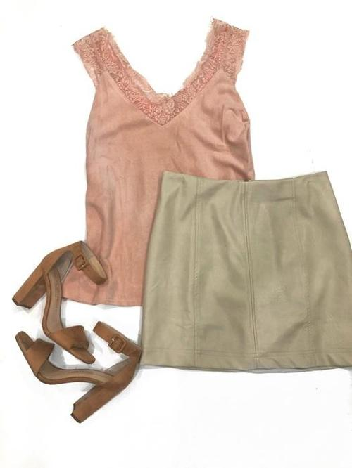 BLUSH LACE CAMI