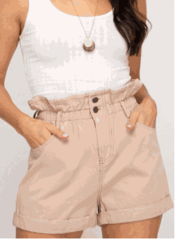 High Elastic Peach Shorts