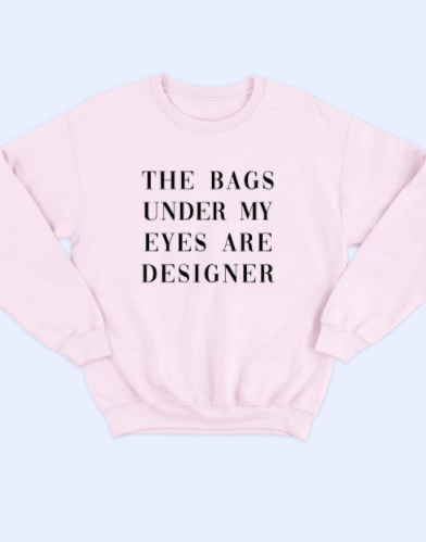 Pink Bags Are Designer Sweatshirt