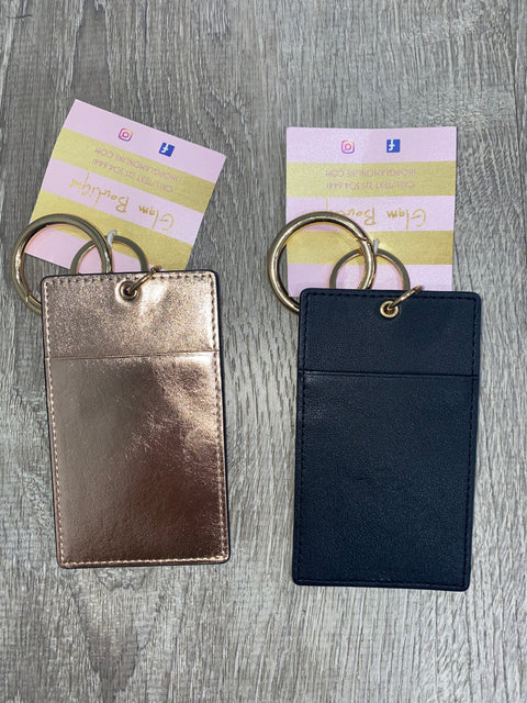 Genuine Leather Wallet Key Ring