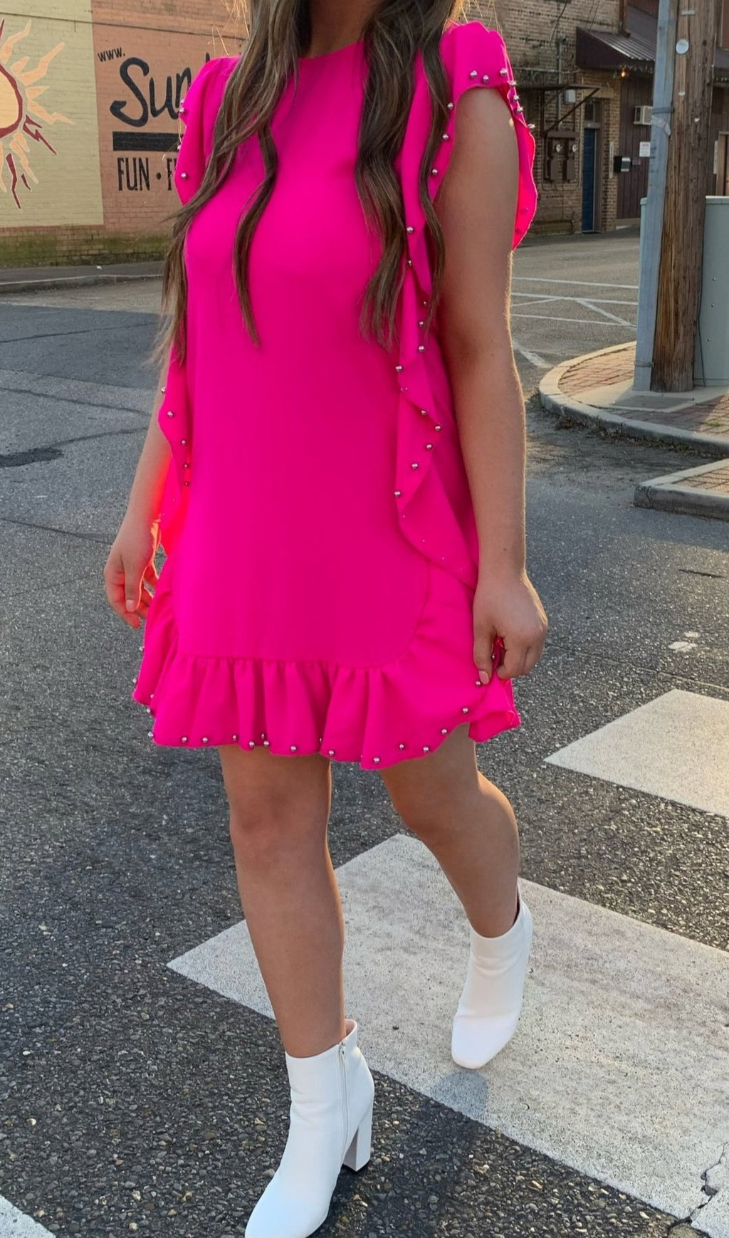 Barbie Pink Grommeted Dress