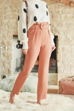 Rust High Waisted Pants