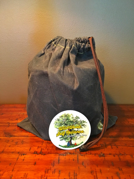 Oilskin Cook Pot Bag - WildWood Self-Reliance