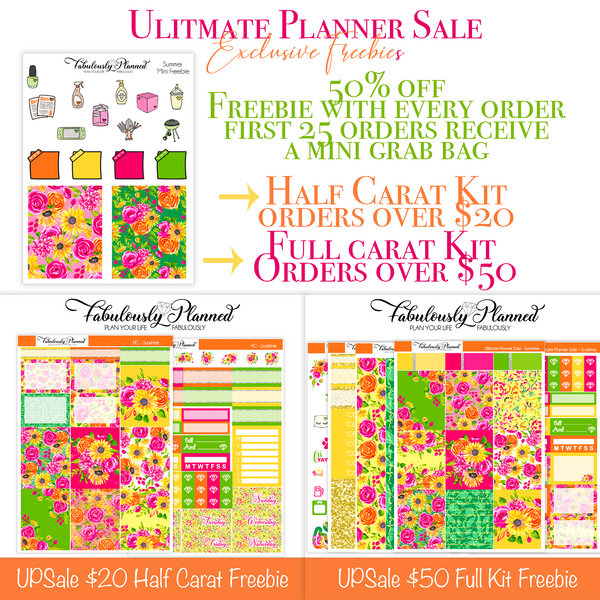 Ultimate Planner Sale Freebies. Entire shop 50% off!