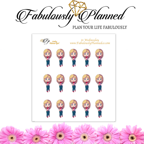 Fabulous Friends Planner Girl Stickers