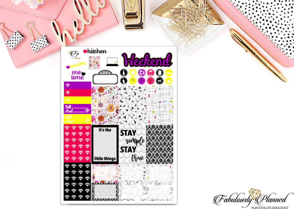Simple Collection Happy Planner Weekly Kit