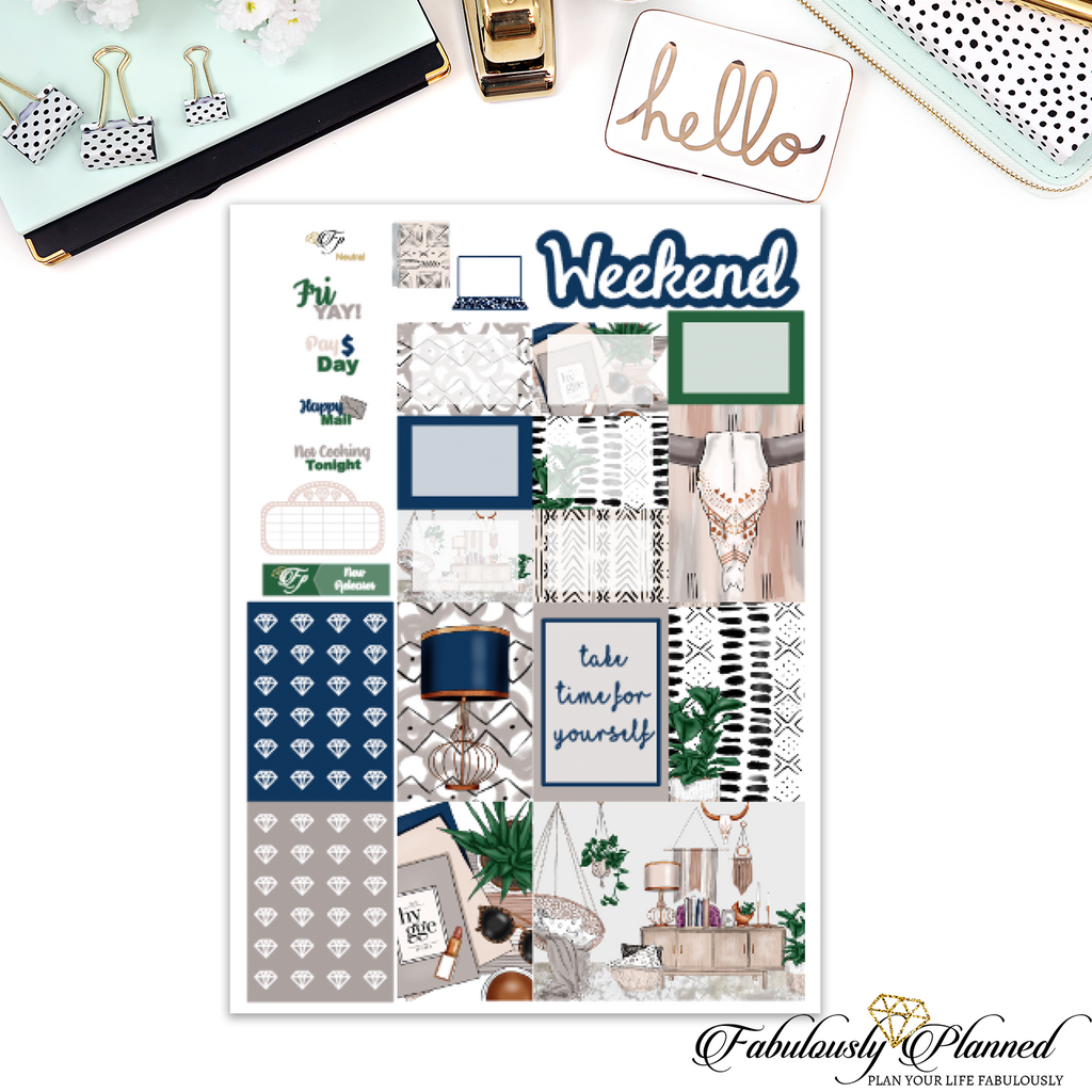 Neutral Happy Planner Weekly Kit
