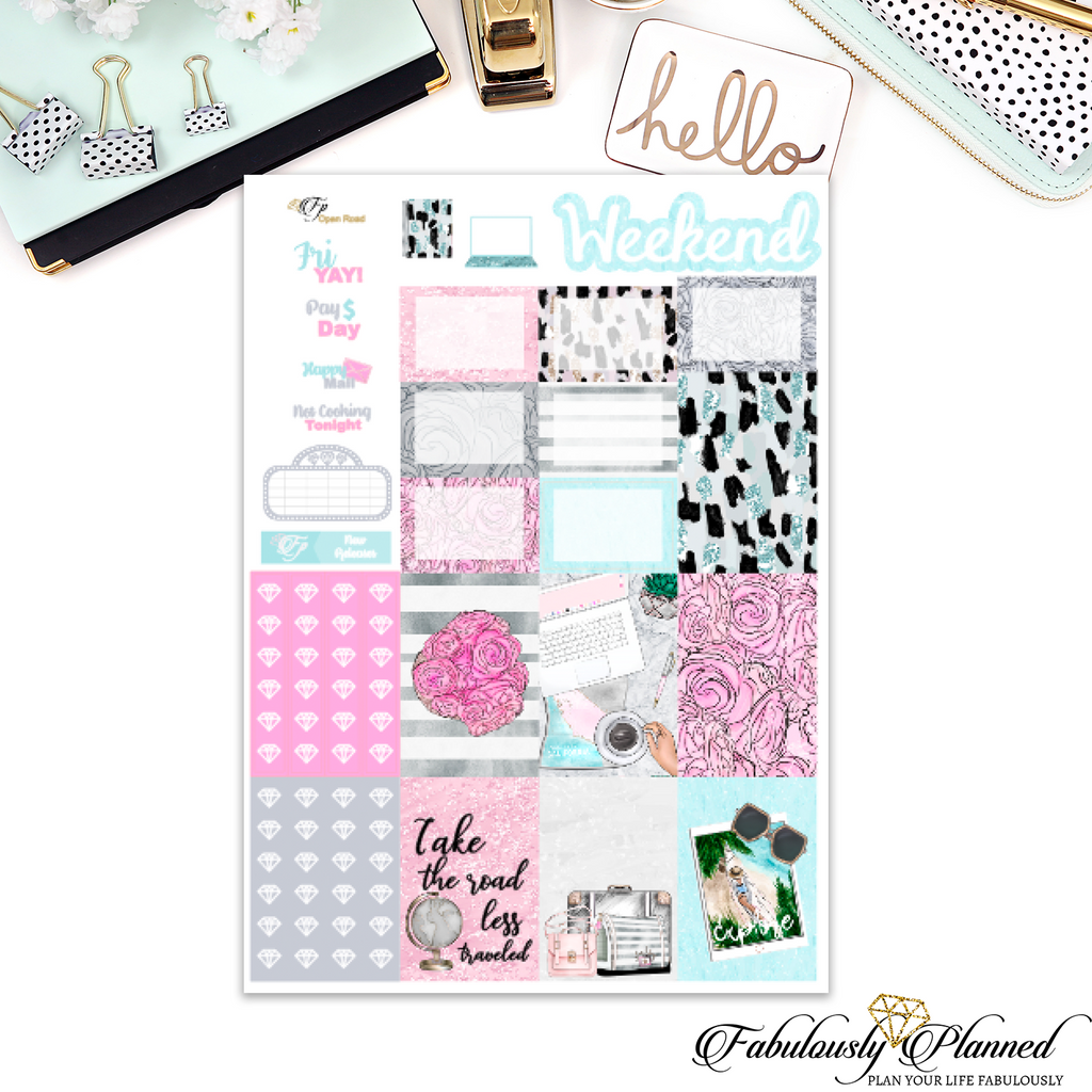Open Road Happy Planner Weekly Kit