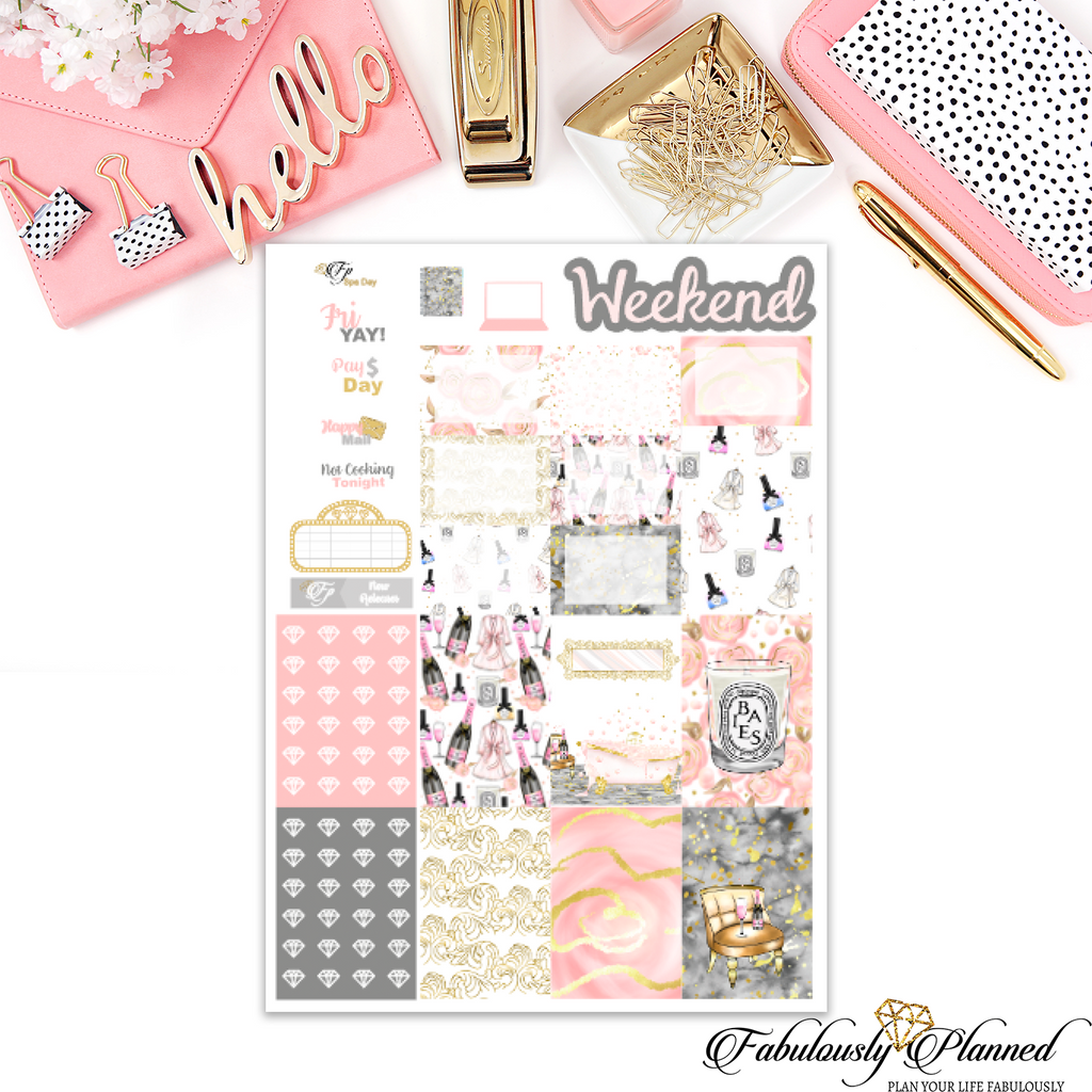 Spa Day Happy Planner Weekly Kit