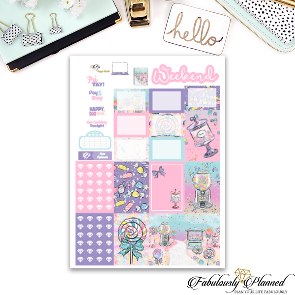 Sugar Rush Happy Planner Weekly Kit