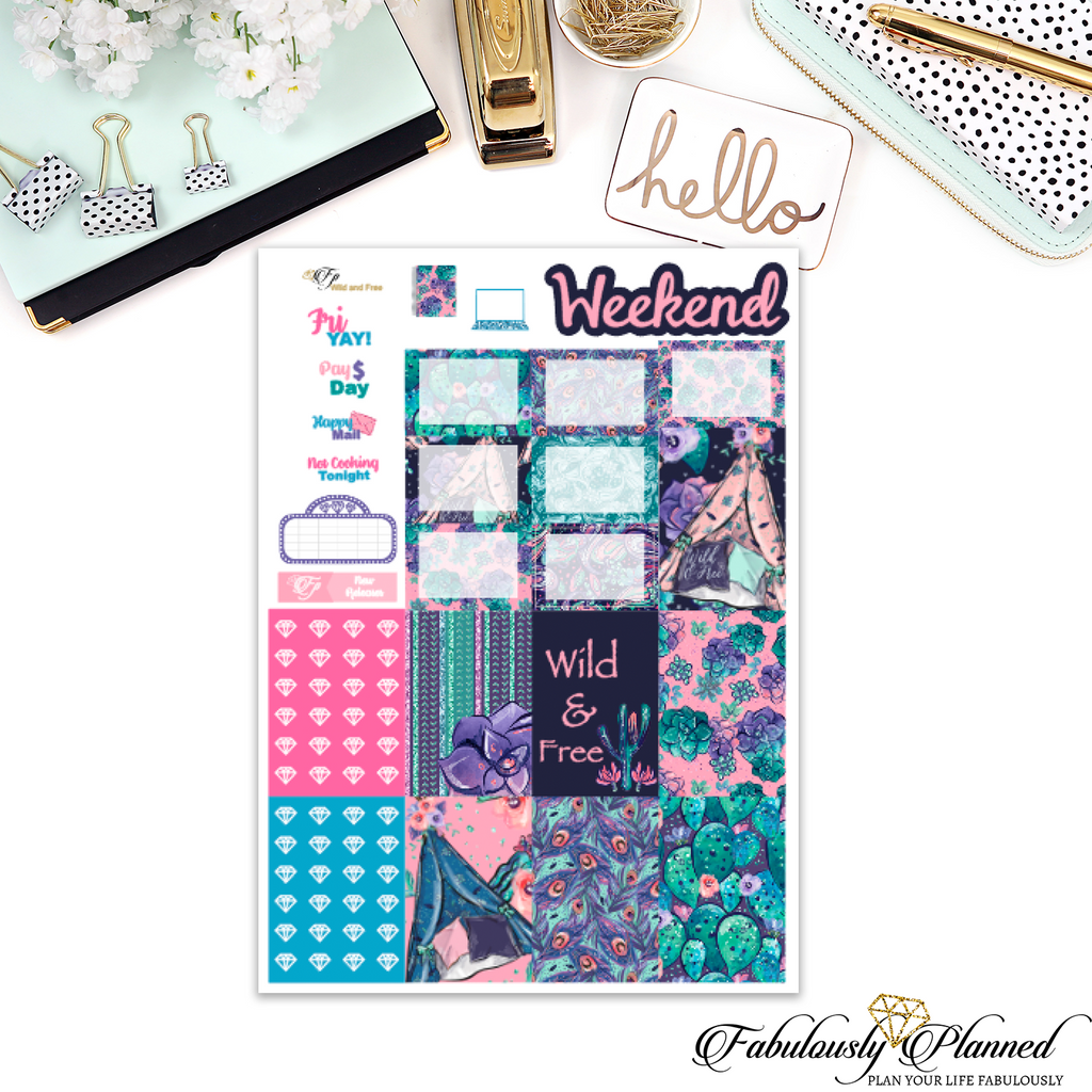 Wild and Free Happy Planner Weekly Kit