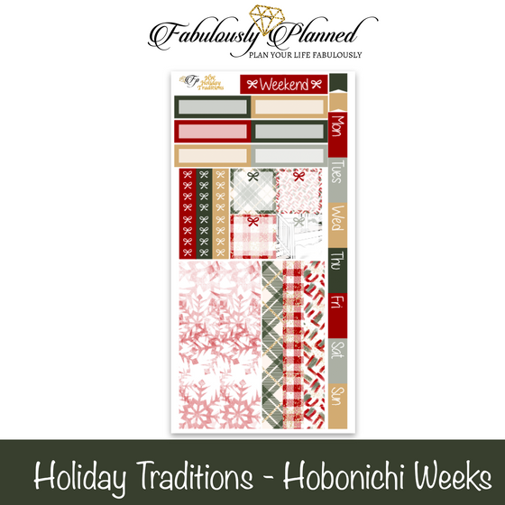 Holiday Traditions Hobonichi Weeks Kit