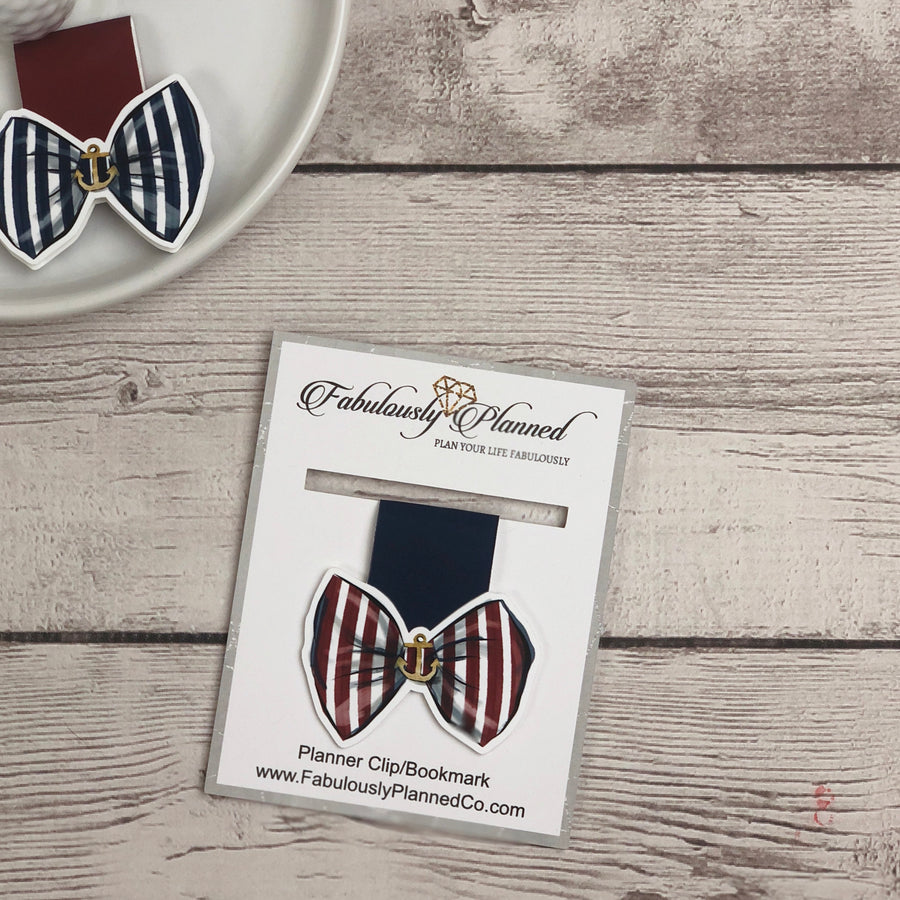 Nautical Bow Planner Clip/Bookmark (color options)