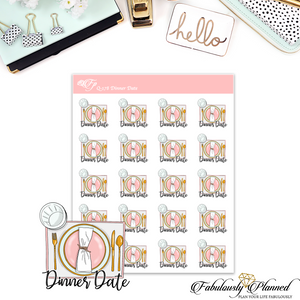 Dinner Date Stickers
