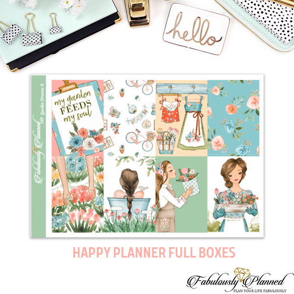 Happy Planner Garden Dream Full Boxes (options)