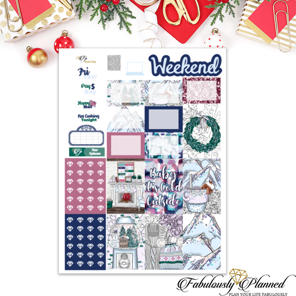 Snow Day Happy Planner Weekly Kit