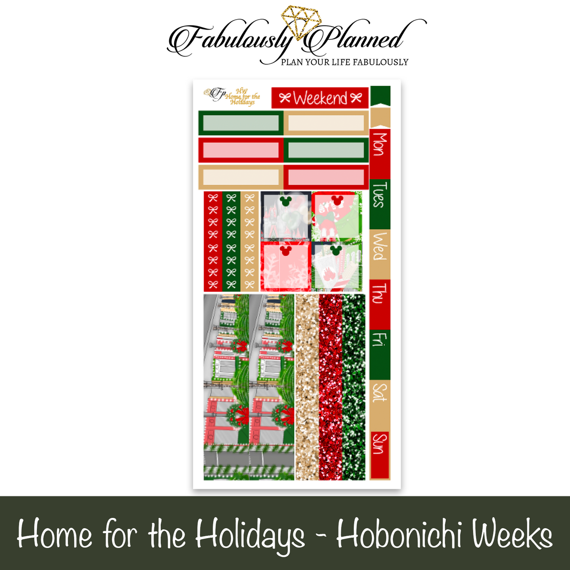 Home for the Holidays Hobonichi Weeks Kit