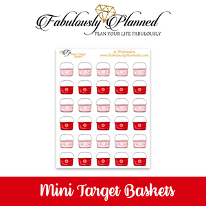 Mini Target Basket Stickers $1 Wednesday