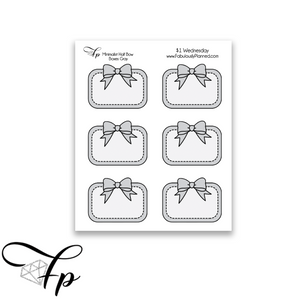 Minimalist Bow Half Boxes Gray