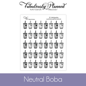 Neutral Boba Stickers $1 Wednesday