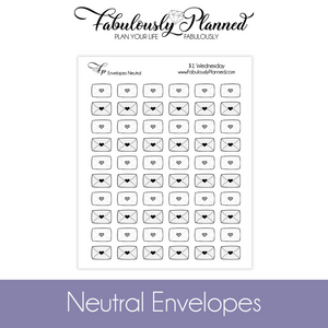 Neutral Envelope Stickers $1 Wednesday