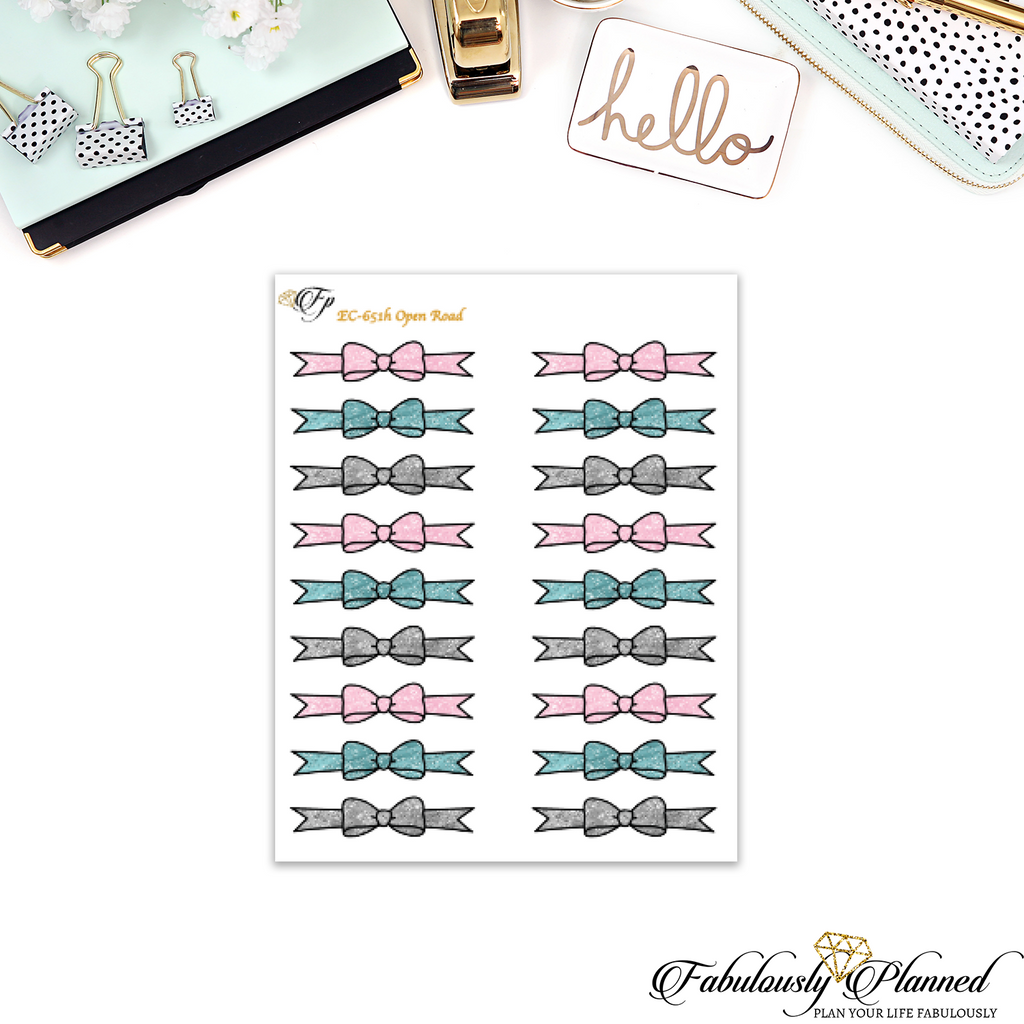 Open Road Glitter Bow Dividers