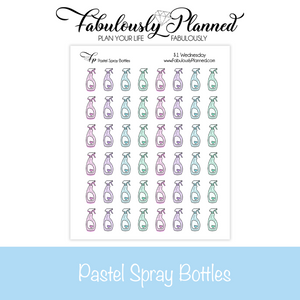 Pastel Spray Bottles