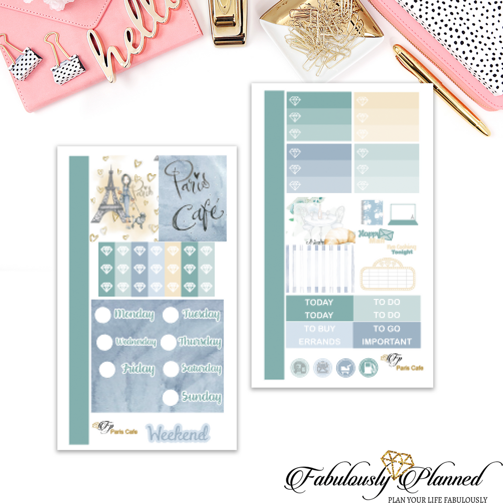 Paris Cafe Collection Personal Planner Kit