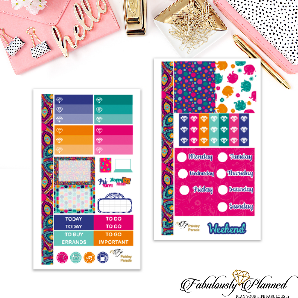 Paisley Parade Collection Personal Planner Kit