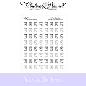 Recycle Bin Icon Stickers $1 Wednesday