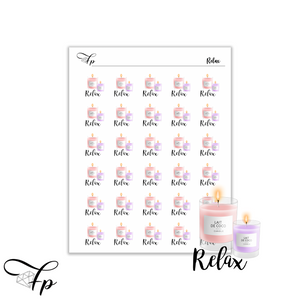 Relax Script Stickers