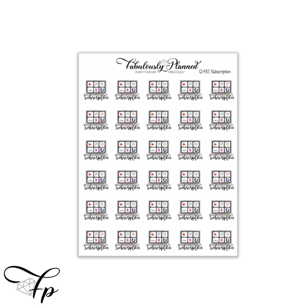 Subscription Icon Stickers