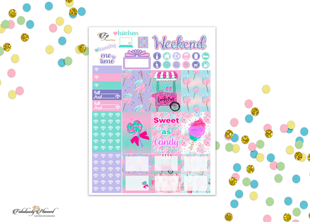 Sweet Shop Happy Planner Weekly Kit