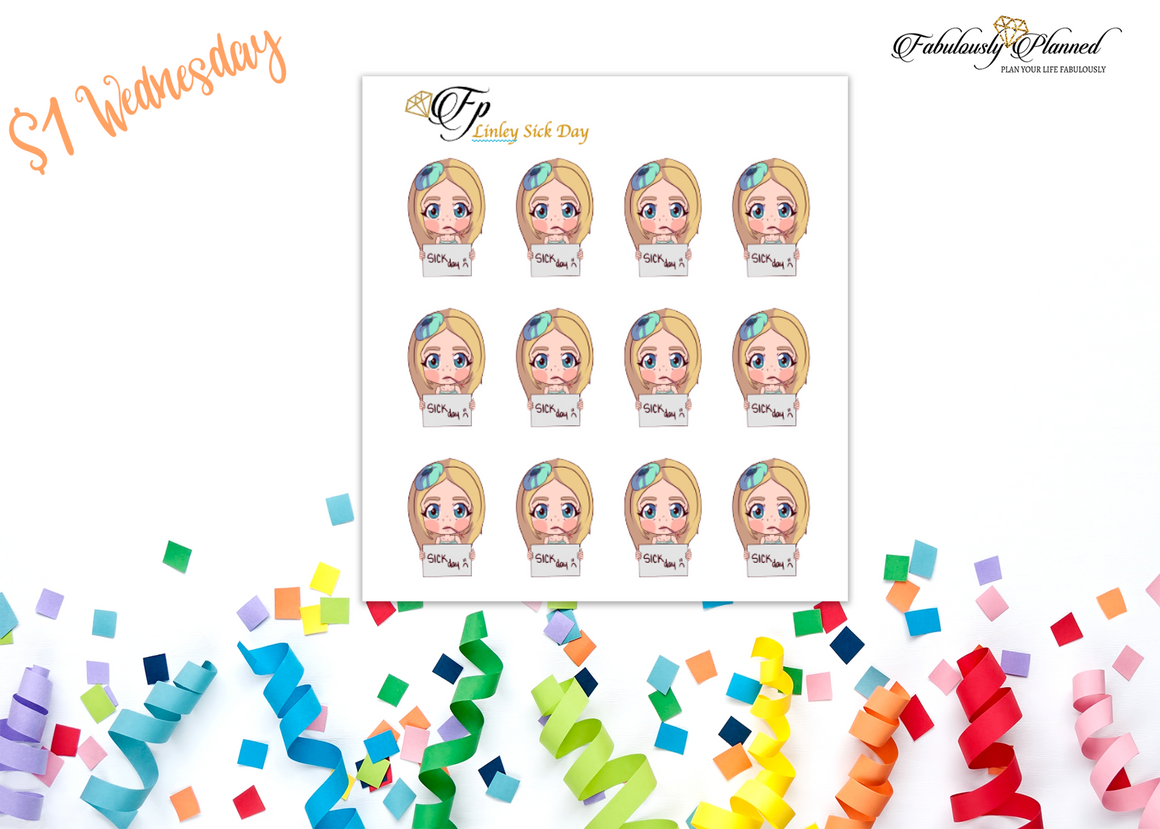 Fabulous Friends Sick Day Stickers