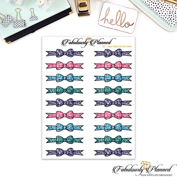 Wild and Free Glitter Bow Dividers