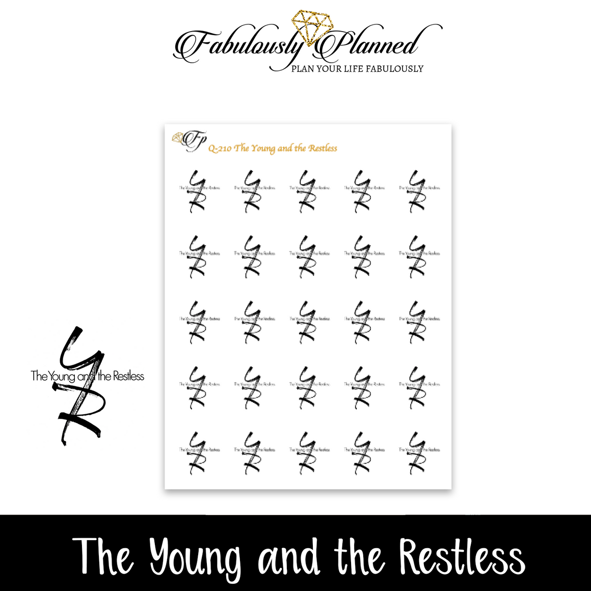 The Young and the Restless Script Stickers