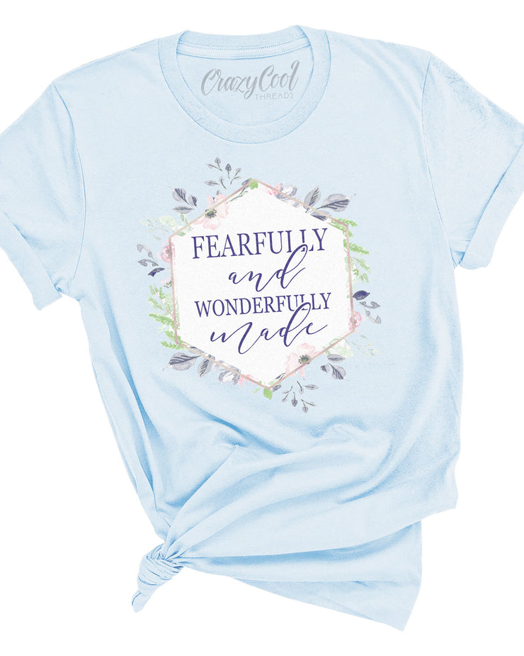 Fearfully & Wonderfully Made (Floral) - Tee