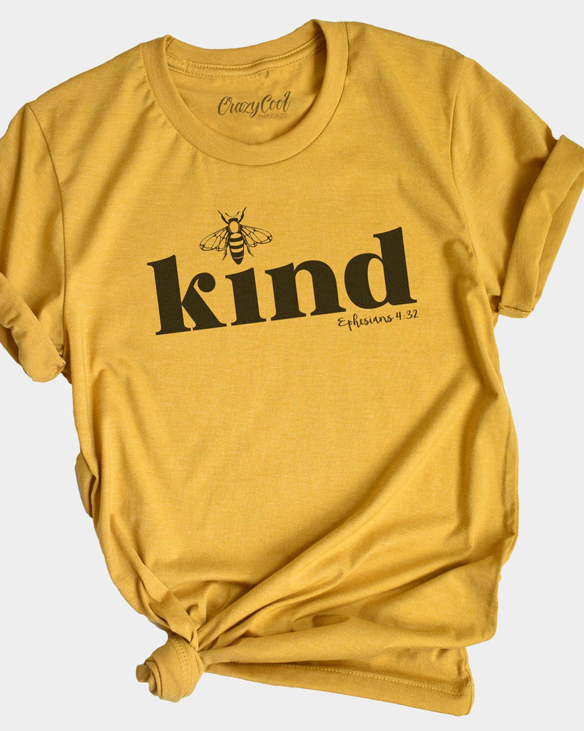 Bee Kind Tee Shirts for Women Funny Graphic Tees T Shirts with Sayings Comfortable Round Neck Summer Tops Blouses